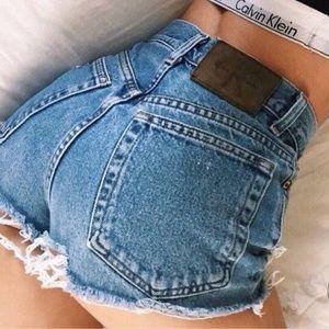 90's Calvin Klein Jean Shorts Size 9